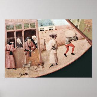 La tabla que representa los siete pecados mortales posters