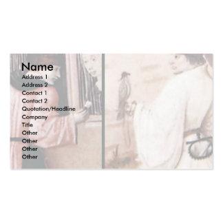 La tabla que representa los siete pecados mortales plantilla de tarjeta de negocio