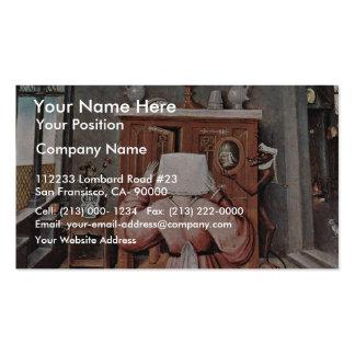 La tabla que representa los siete pecados mortales tarjetas de visita