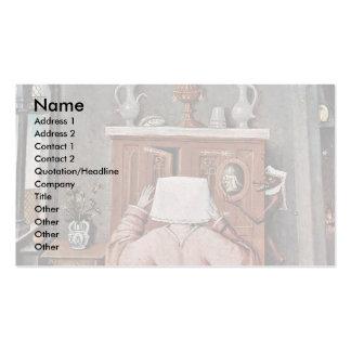 La tabla que representa los siete pecados mortales plantillas de tarjeta de negocio