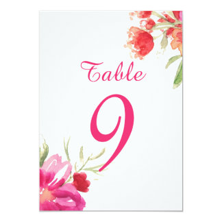 """La tabla rosada del ramillete de la flor de la invitación 5"""" x 7"""""""