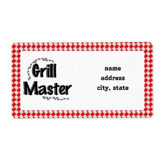 La tabla y las hormigas de Grill Master w/Picnic Etiqueta De Envío