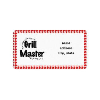 La tabla y las hormigas de Grill Master w/Picnic Etiquetas De Dirección