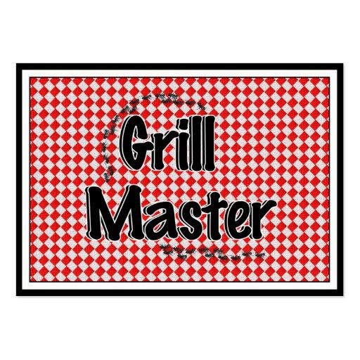 La tabla y las hormigas de Grill Master w/Picnic Tarjetas De Visita Grandes