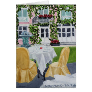 La Table des Marechaux:Fontainebleau, France Stationery Note Card