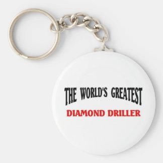 La taladradora más grande del diamante llaveros personalizados