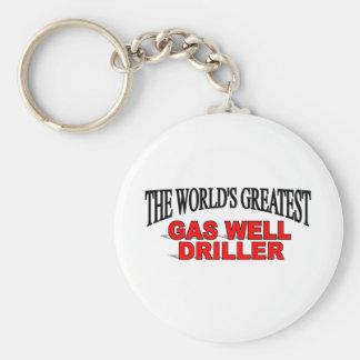 La taladradora más grande del pozo del gas del mun llavero personalizado