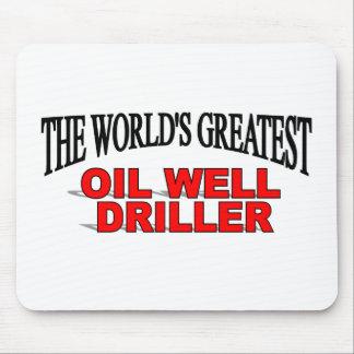 La taladradora más grande del pozo del petróleo de tapetes de ratones