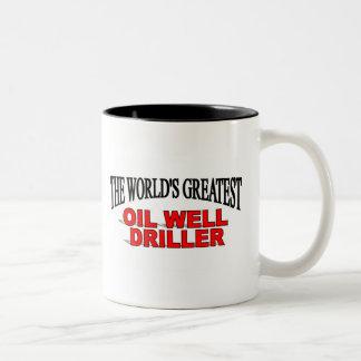 La taladradora más grande del pozo del petróleo de tazas