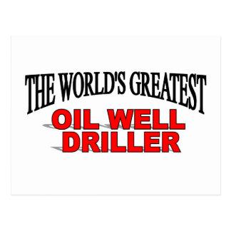 La taladradora más grande del pozo del petróleo postal
