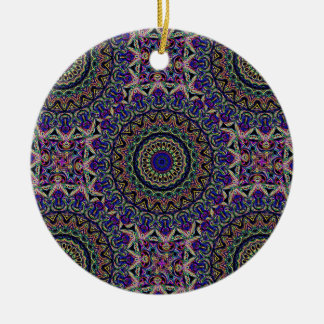 La tapicería oscura tejó el modelo de Kaleido Adorno Redondo De Cerámica