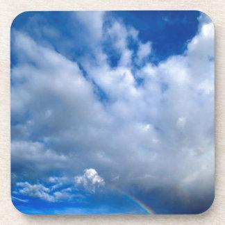 La tarde de las nubes riega Zion Utah Posavasos De Bebidas
