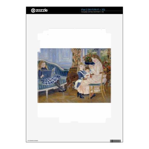 La tarde de los niños en Wargemont 1884 por Renoir iPad 2 Skins