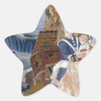 La tarde de los niños en Wargemont 1884 por Renoir Pegatina En Forma De Estrella