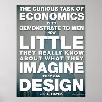 La tarea curiosa de la economía póster