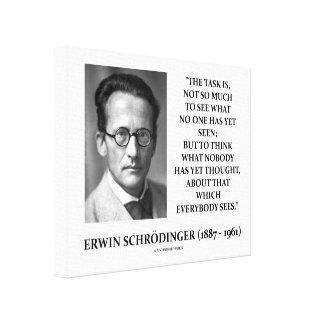 La tarea de Erwin Schrödinger no piensa nadie con Impresión De Lienzo