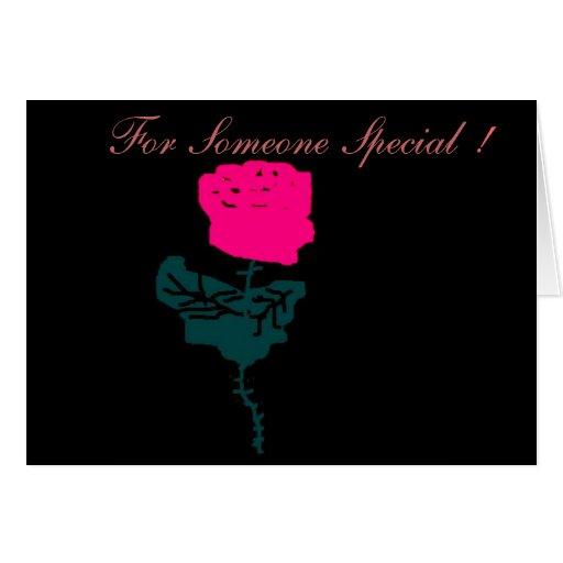 La tarjeta color de rosa rosada