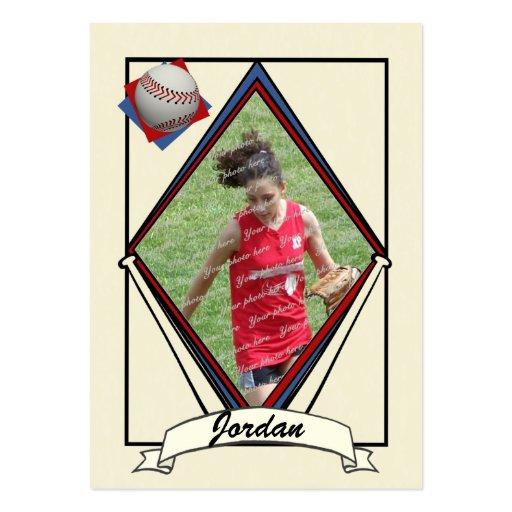 La tarjeta de béisbol le agradece favorecer tarjetas de visita grandes