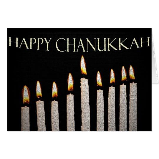 La tarjeta de Chanukkah del resplandor del Menorah