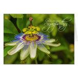 La tarjeta de condolencia más profunda de la flor