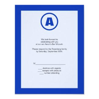 """La tarjeta de contestación del héroe de Mitzvah de Invitación 4.25"""" X 5.5"""""""