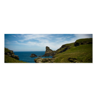 La tarjeta de Cornualles del perfil de la costa Tarjeta Personal