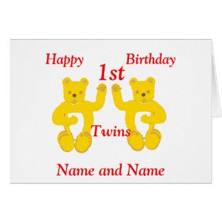 La tarjeta de cumpleaños de los gemelos añade