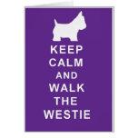 La tarjeta de cumpleaños de Westie guarda estilo t