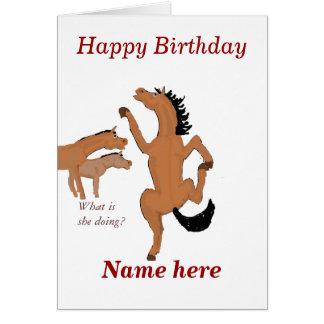 La tarjeta de cumpleaños del baile del caballo,