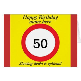 La tarjeta de cumpleaños del límite de velocidad