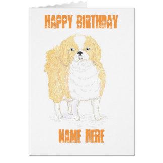 La tarjeta de cumpleaños del perro de aguas