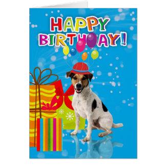 la tarjeta de cumpleaños del perro de la diversión