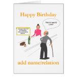 La tarjeta de cumpleaños divertida del chiste añad