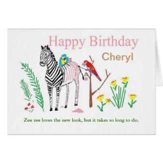 La tarjeta de cumpleaños divertida, personaliza