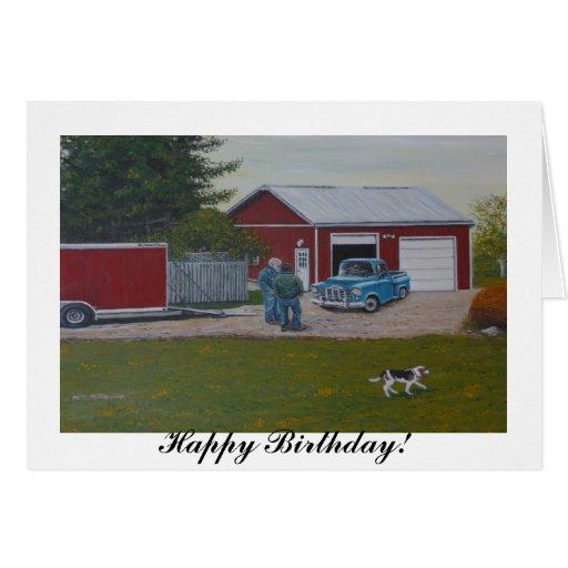 """La tarjeta de cumpleaños en blanco con """"granes esp"""