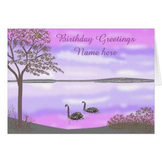 La tarjeta de cumpleaños hermosa de la escena del