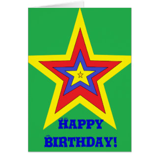 La tarjeta de cumpleaños más fresca del niño