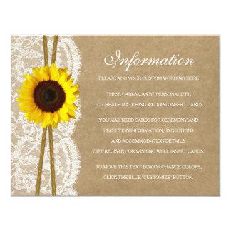 """La tarjeta de detalle de la colección de Kraft, Invitación 4.25"""" X 5.5"""""""
