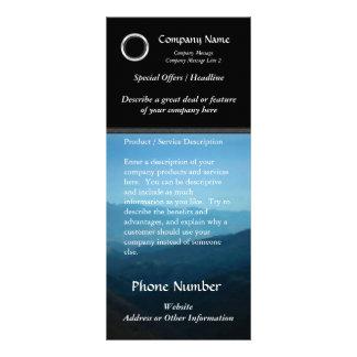 La tarjeta de encargo del estante, diseño negro lonas personalizadas