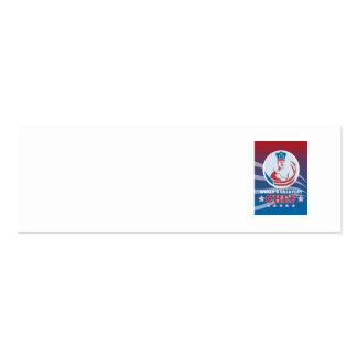 La tarjeta de felicitación americana más grande de tarjeta de negocio