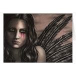 La tarjeta de felicitación caida del ángel