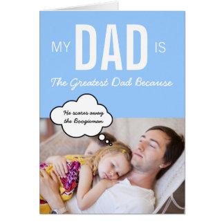 La tarjeta de felicitación de encargo del papá más