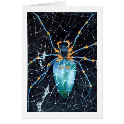 La tarjeta de felicitación de la araña