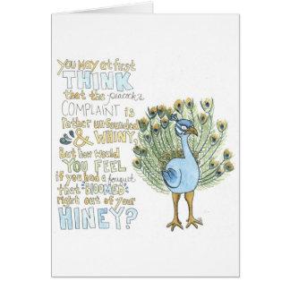 La tarjeta de felicitación de la denuncia del pavo