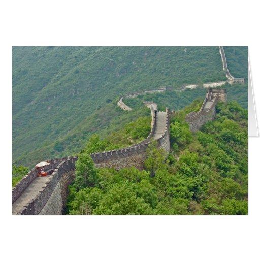 La tarjeta de felicitación de la pared china