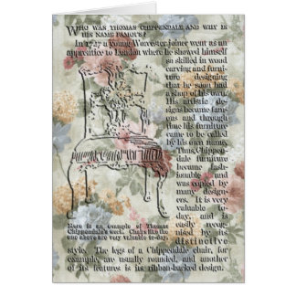 La tarjeta de felicitación de la silla de Chippend