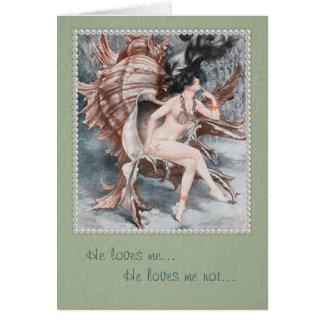 La tarjeta de felicitación de la sirena de Cheri