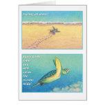 La tarjeta de felicitación de la tortuga de mar