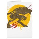 La tarjeta de felicitación del hombre lobo
