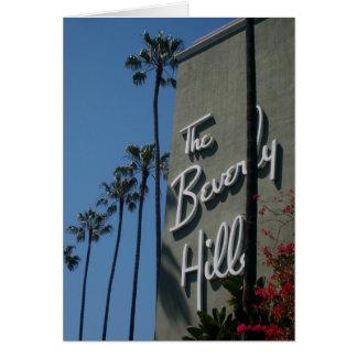 La tarjeta de felicitación del hotel de Beverly Hi